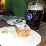 Hofbrauhaus Dunkel Bier and Apple Strudel, Munich