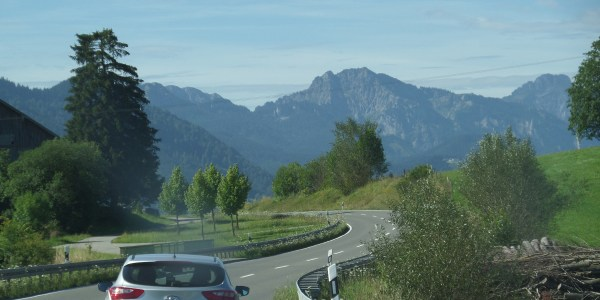 Driving through Bavaria, Germany