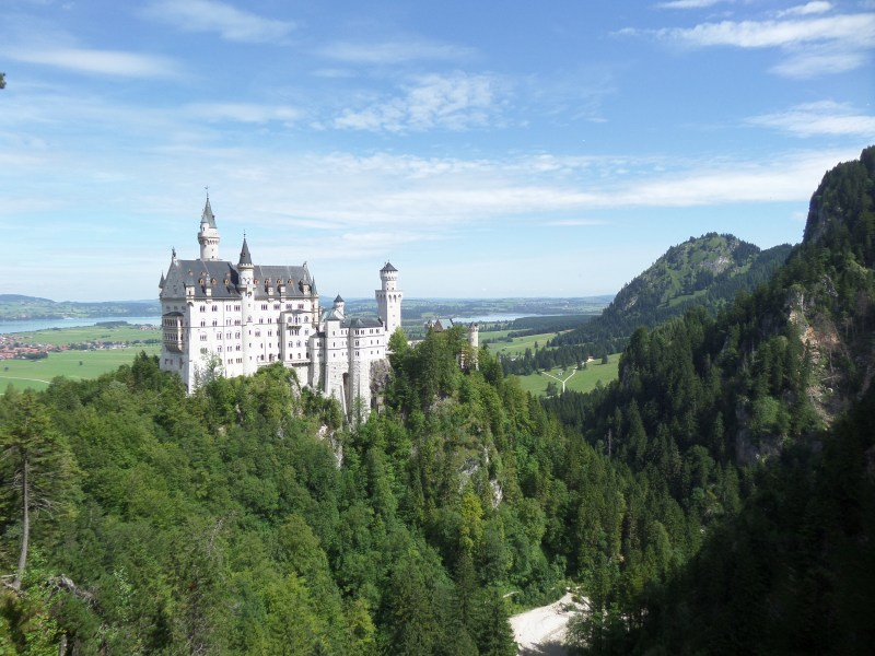 View of Neuschwanstein Castle from Marion Bridge, Bavaria Romantic Road, Germany