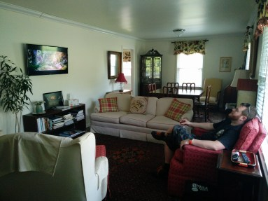 Living room of Magnolia Cottage Lynchburg TN