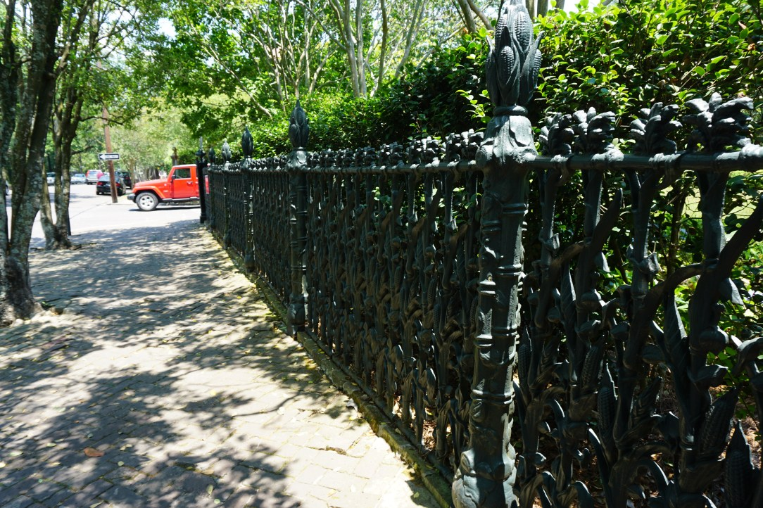 Ornate cast iron fencing in the Garden District, New Orleans