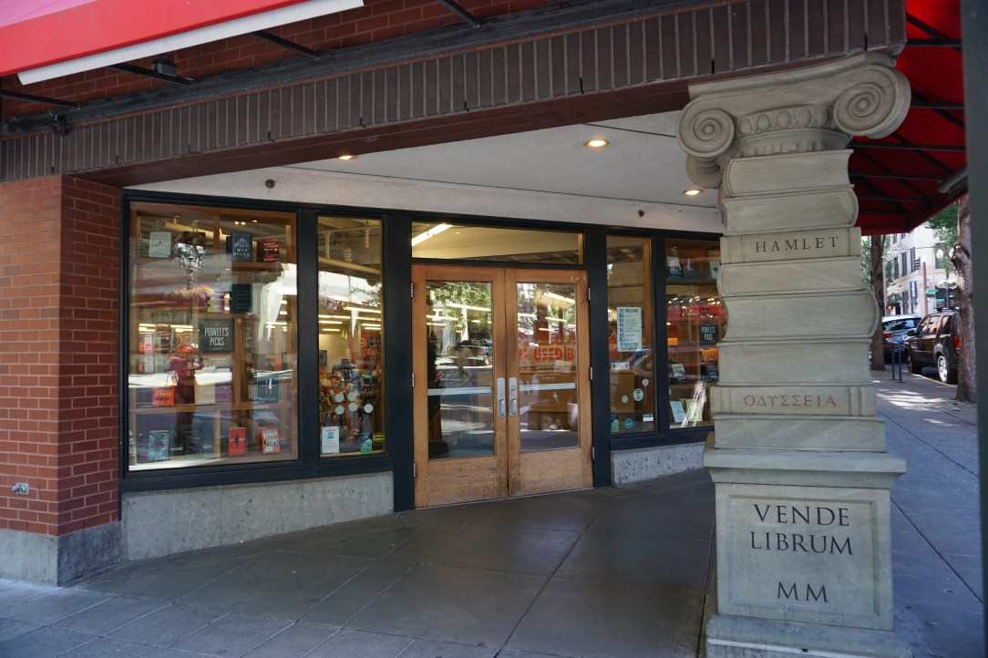 Entrance to Powell's City of Books in Portland
