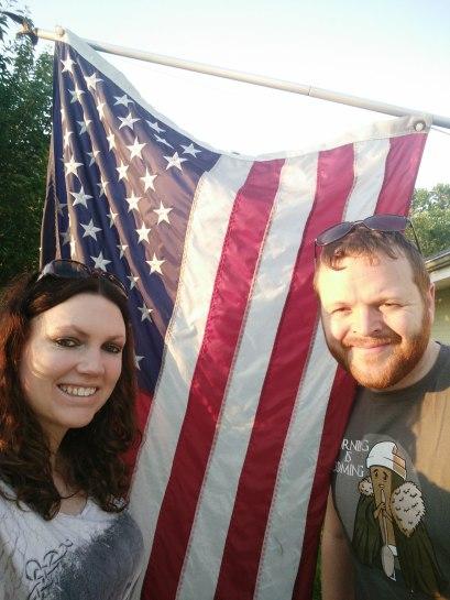 Selfie with USA flag