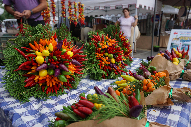 Food bouquet at Sineu Market Majorca