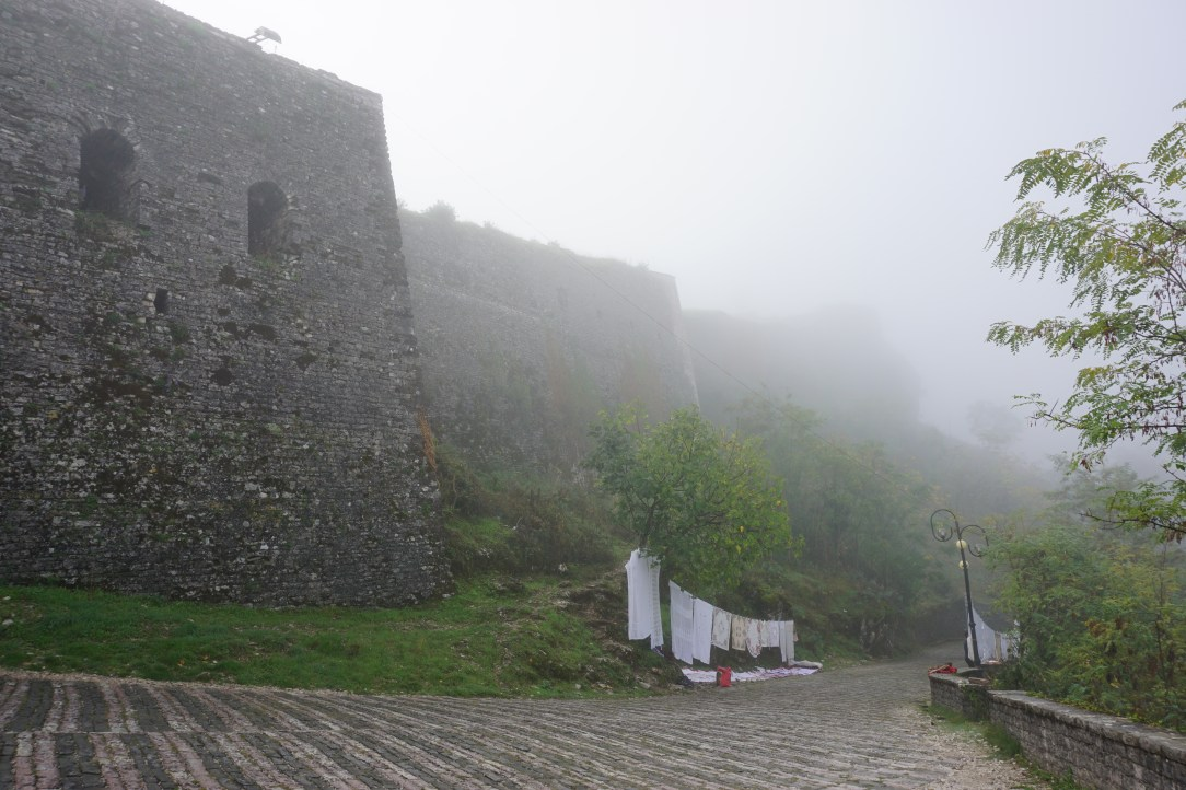 Misty Castle in Gjirokaster