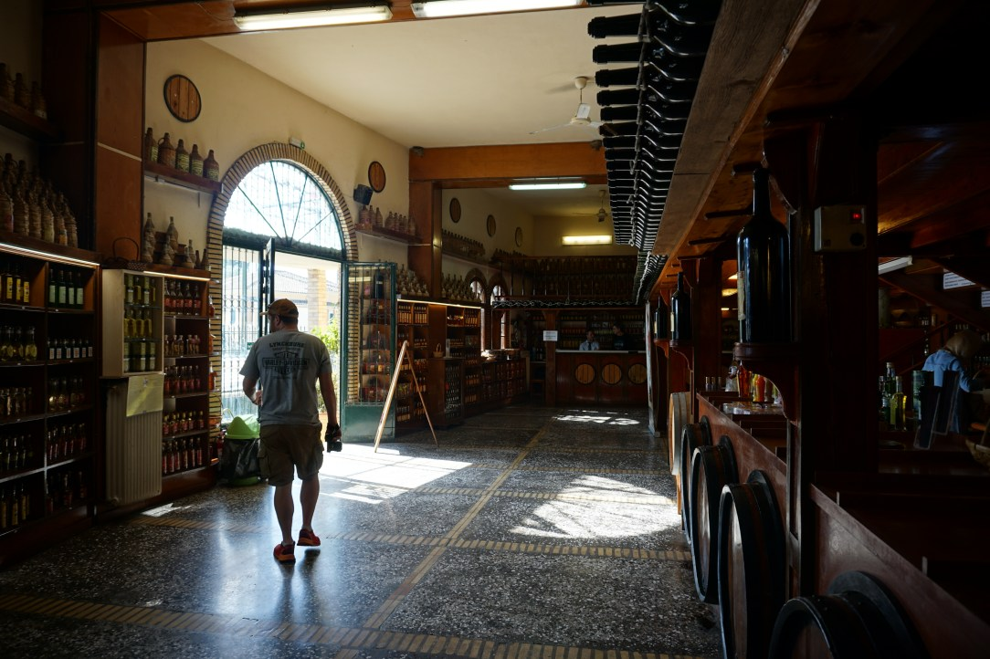 Inside Corfu winery