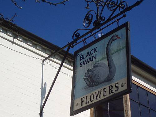 stratford upon avon england black swan dirty duck pub sign roadsofstone