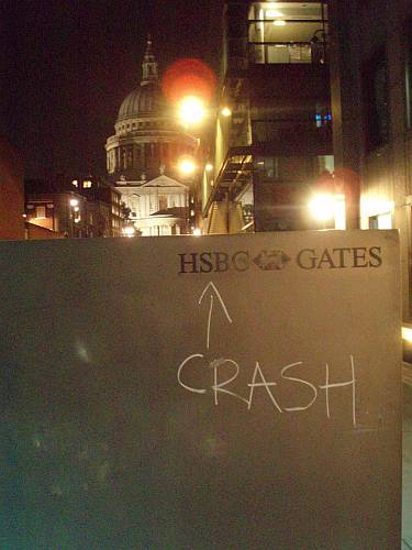 st pauls cathedral city of london england banking financial crisis 2008