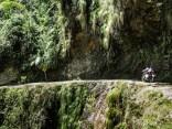 το πιο στενό σημείο του Yungas road