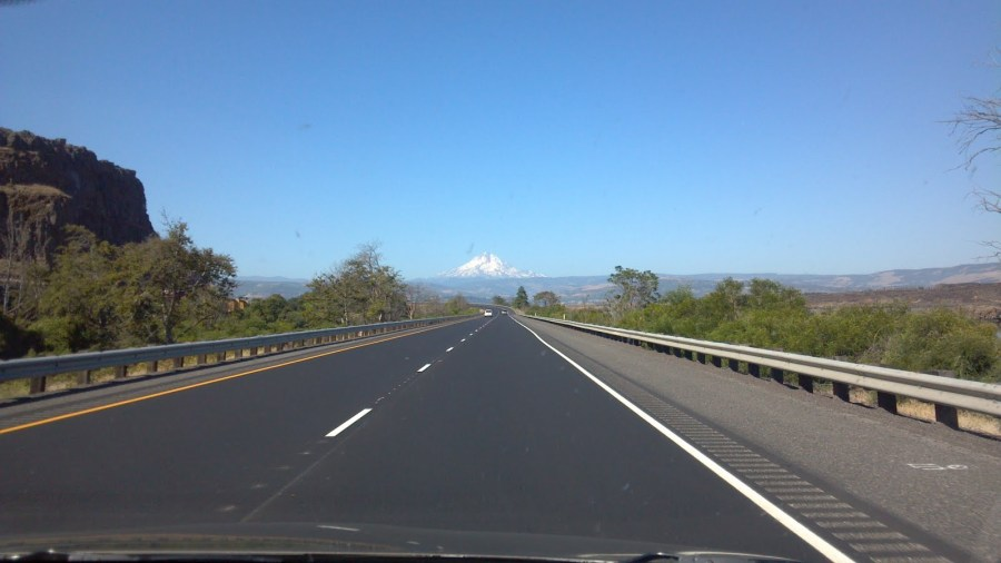 Mount Hood. It's a beautiful day for driving.