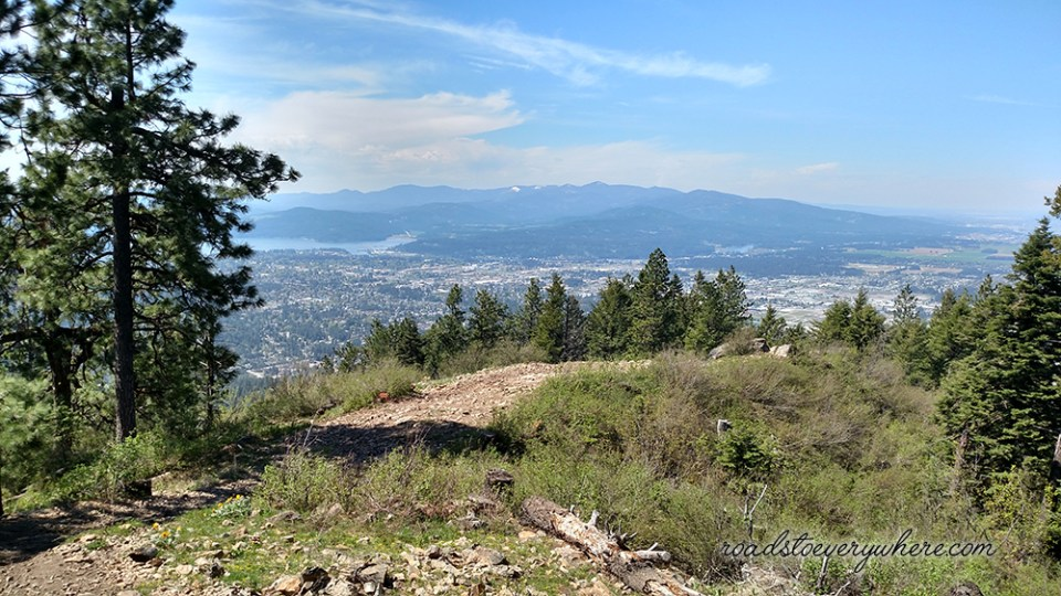 View of Coeur d'Alene from Canfield Mountain