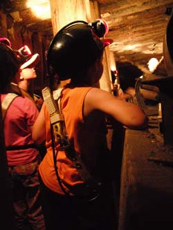 Tunnel tour at the Atlas Coal Mine