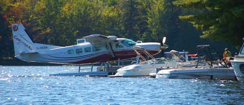 Some serious fly-in transportation at Bigwin Island Golf Club