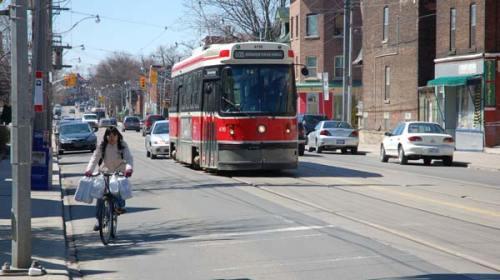 Streetcar in downtown Toronto, Ontario