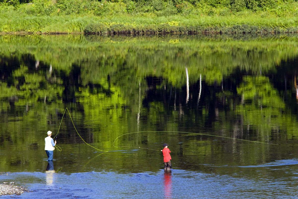 Fly-fishing-Miramichi-River