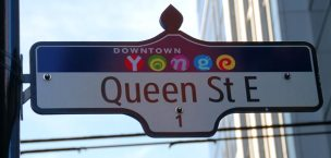 Queen Street East sign