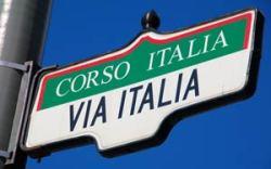 Corso Italia street sign