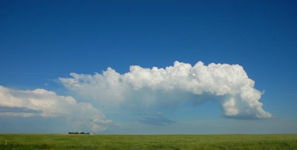 cloud formation over the Canadian Badlands