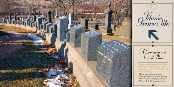 Titanic victims' graves