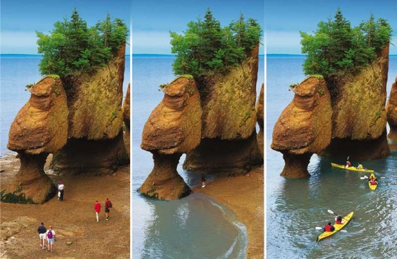 Hopewell Rocks on the Bay of Fundy, Canada