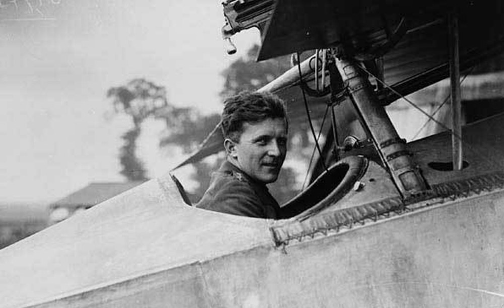 Billy Bishop in cockpit
