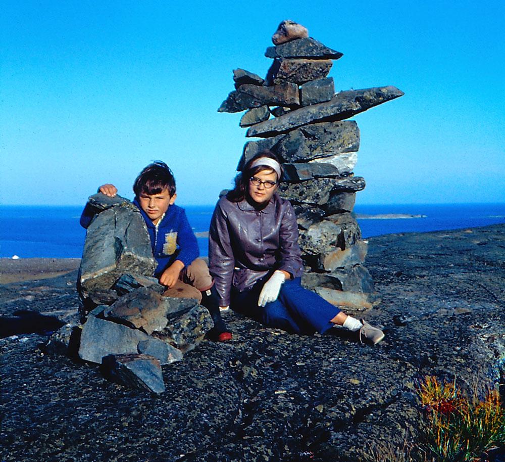 inukshuk in Rankin Inlet, 1968
