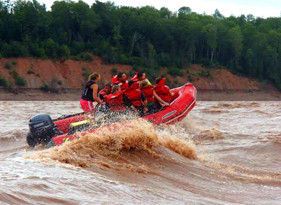 Tidal Bore Rafting zodiac