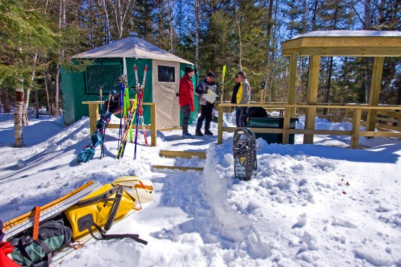 windy-lake provincial-park-yurt-winter