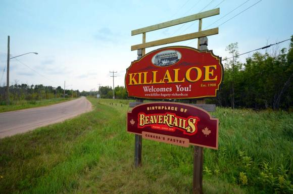 Killaloe BeaverTails roadsign