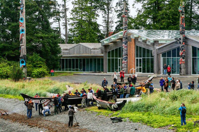 Canoe launch at Haida Heritage Centre, Haida Gwaii
