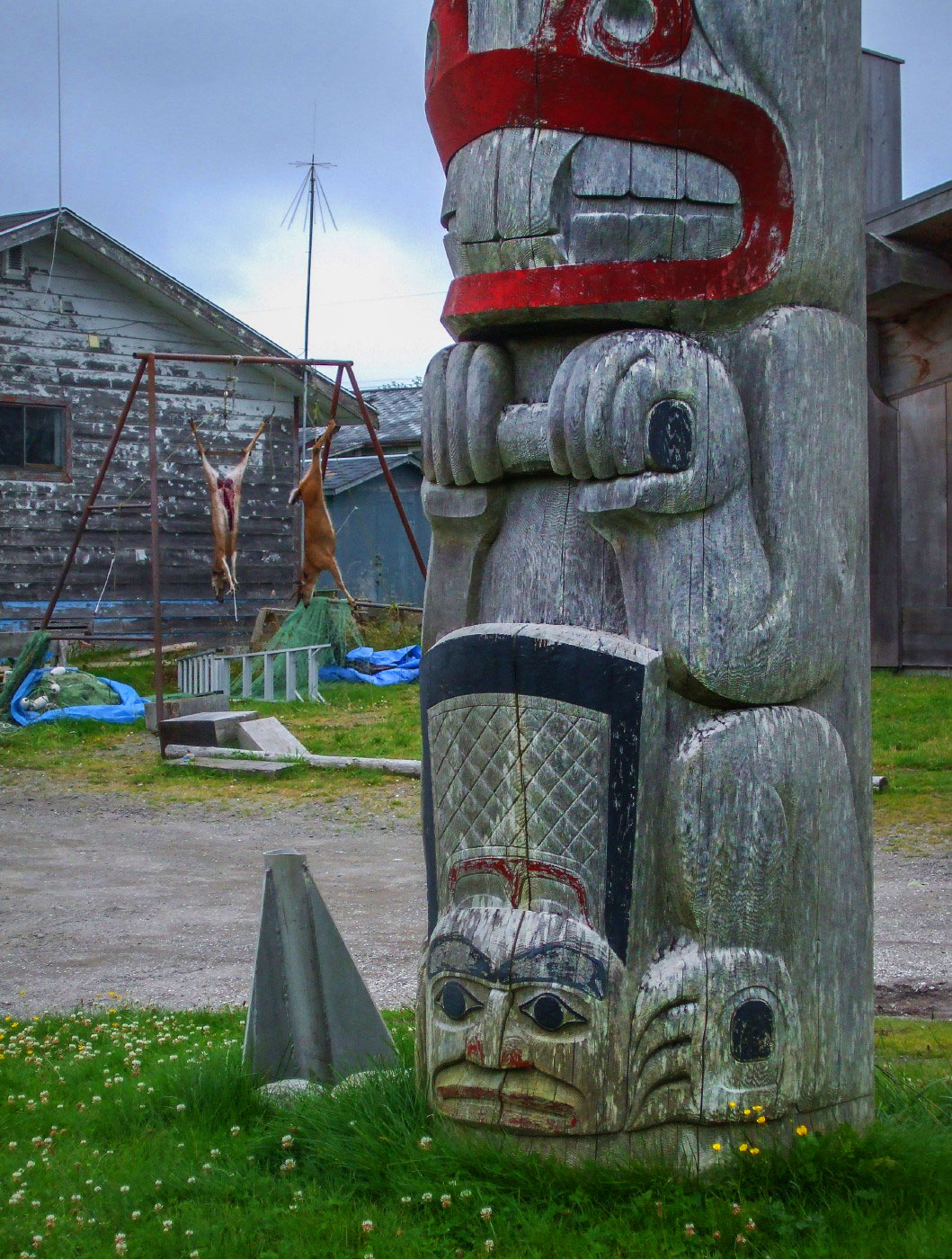 totem at Masset, Haida Gwaii