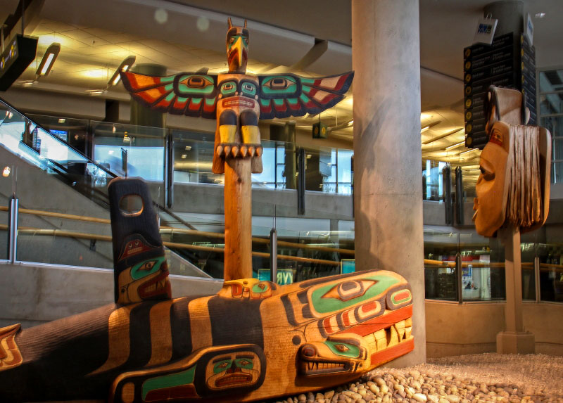 Supernatural World art at YVR
