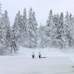 Long Pond outdoor hockey by Avard Woolaver