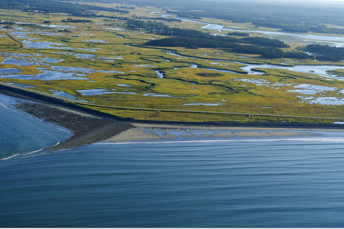 Yarmouth, Nova Scotia from the air, Canada