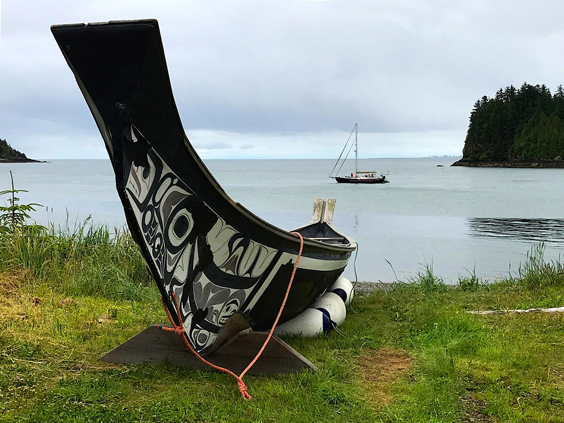 Haida Gwaii Watchmen canoe