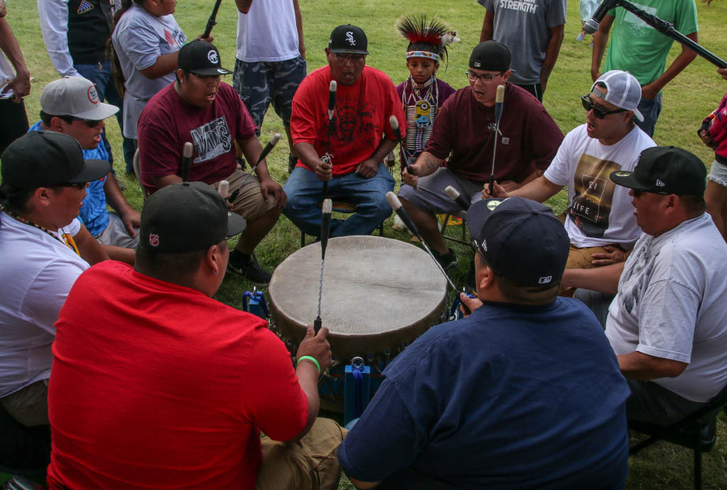 powwow-drummers and singers