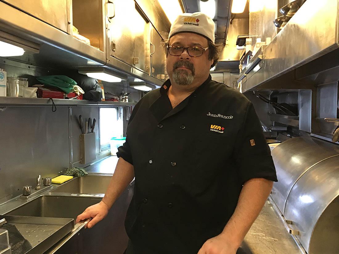 VIA Rail Chef Jean-Francois Dube