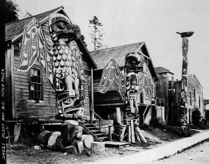Albert Bay, B.C. totem poles - First Nations Culture