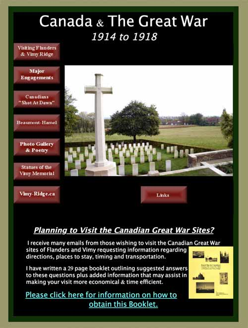 Canada and The Great War – 1914 to 1918