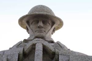 """Remembrance Day statue """"Brooding Soldier"""""""