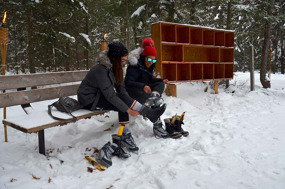 Arrowhead Provincial Park putting-on-skates