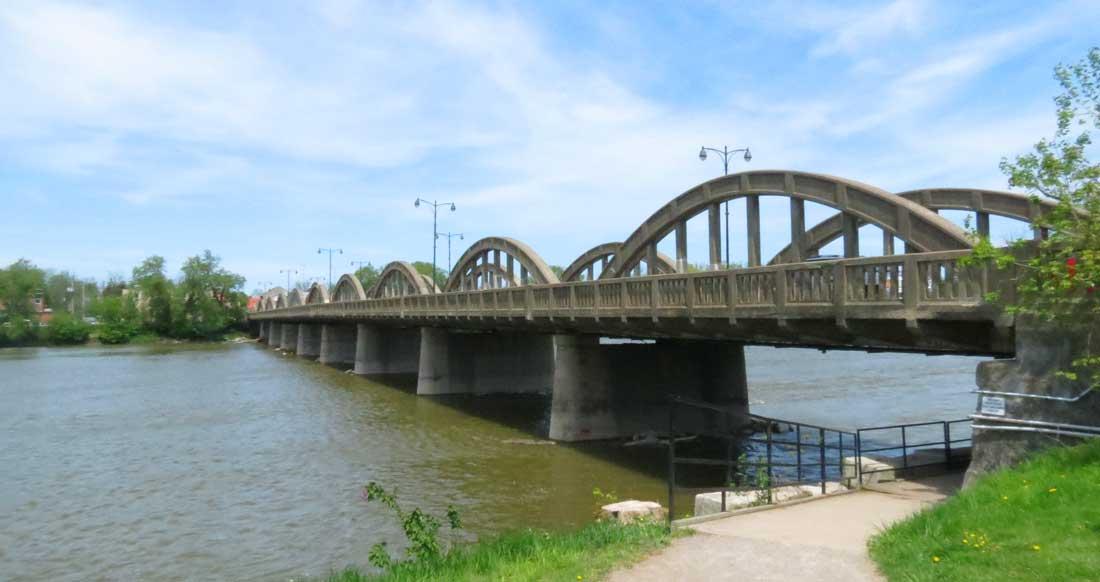 Charles Mattaini Bowstring Bridges nine-arch bridge