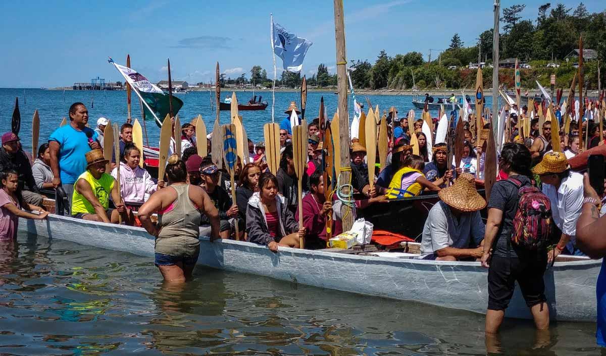 tribal canoe journey Paddle-to-Lummi