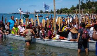 Paddle to Lummi Tribal Canoe Journey