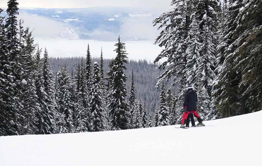 skiing near Vernon B.C.