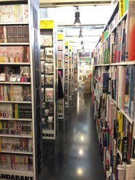 Rows and rows of manga