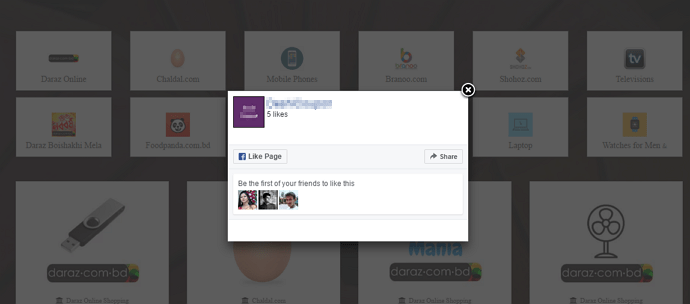 Add Popup Facebook Like Box In WordPress