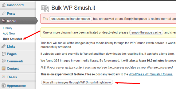 Bulk Smush.it WordPress