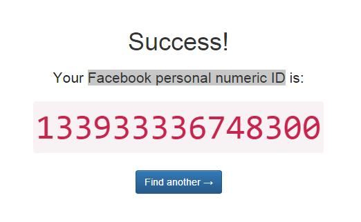 Facebook Numeric ID