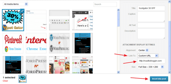Adding Link on WordPress Image